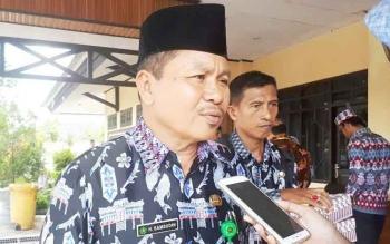 Kepala Kantor Kemenag Kotim Samsudin, usai menghadiri perayaan nyepi di Gedung Serbaguna Sampit, Kamis (4/5/2017)