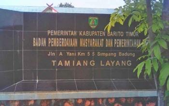 Kantor Badan Pemerdayaan Masyarakat dan Pemerintahan Desa (BPMP) Barito Timur