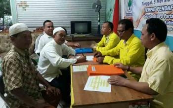 Suasana di Kantor DPD Partai Golkar Katingan di Kasongan pada hari pertama pembukaan penjaringan bakal calon, Jumat (5/5/2017).