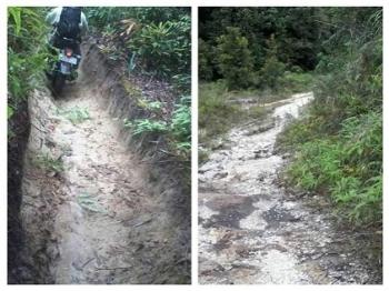 Jalan Perdesaan di Barito Selatan Masih Memprihatinkan