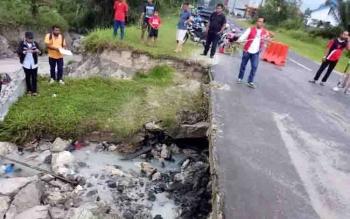Jalan Ahmad Wongso Sudah Bisa Dilalui Kendaraan