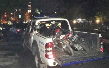 Dua unit sepeda motor berhasil diamankan beserta pemiliknya yang tengah balapan liar di jalan Sutan Sahrir, Pangkalan Bun, Minggu (7/5/2017) dini hari.