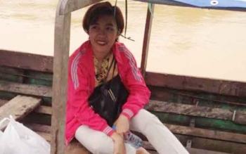 Anggota DPRD Kapuas Dapil IV Poetry Gita Oktonovianty saat melakukan reses Dapil IV ke Desa Menyarung, Kecamatan Madau Terlawang