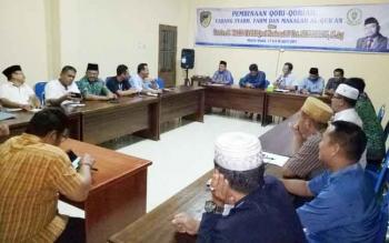 Rapat persiapan keberangkatan kontingen Barito Utara untuk mengikuti Seleksi Tilawatil Quran ke XXI tingkat Provinsi Kalteng yang digelar di Kota Puruk Cahu, Kabupaten Murung Raya.