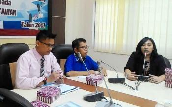 Jumpa pers Bank Indonesia Perwakilan Kalteng di ruang Huma Hapakat, Palangka Raya, Rabu (10/5/2017).