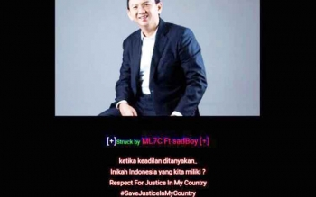 Tampilan website Pengadilan Agama Pangkalan Bun yang diretas oleh orang tidak bertanggungjawab, Jumat (12/5/2017)