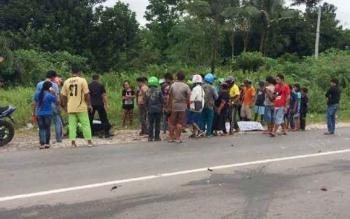 Jalan Jenderal Sudirman Sampit, Kotawaringin Timur, beberapa waktu lalu kembali memakan korban.