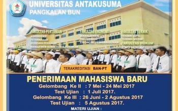Universitas Antakusuma Pangkalan Bun menerima mahasiswa dan mahasiswi baru tahun ajaran 2017-2018