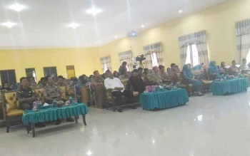Tamu undangan saat mengikuti Rapat Konsultasi PKK dan orientasi kader PAUD terintegrasi tingkat Kabupaten Sukamara tahun 2017, di BPG Sukamara, Senin (15/5/2017).