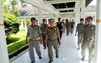 Tim gabungan melakukan penyisiran di RSUD dr Doris Sylvanus Palangka Raya, Selasa (16/5/2017)