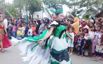 Sampit Etnik Karnaval yang dilaksanakan di Sampit beberapa waktu lalu.