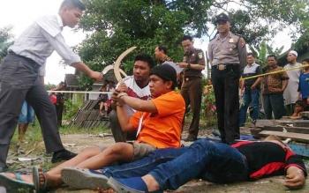 Terungkap Kasus Pembunuhan Sadis Desa Batu Belaman Dilakukan Dua Orang