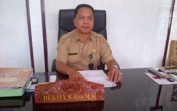 Kepala Dinas Perdagangan, Koperasi dan UKM Kabupaten Barito Selatan Dekma.