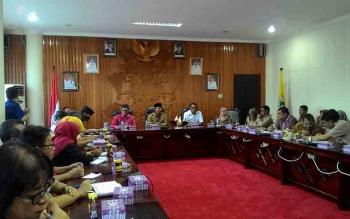 Rapat persiapan pelaksanaan Kemah Budaya Nasional, Selasa (16/5/2017).