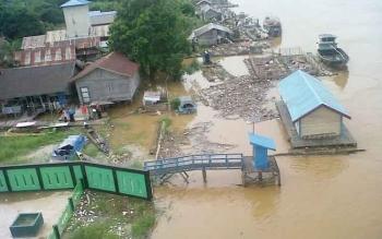 Luapan Air Sungai Katingan Mengancam Wilayah Kasongan