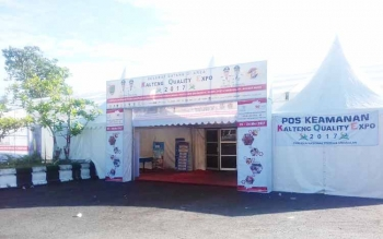 Hingga Senin (22/5/2017) pagi kondisi listrik pameran Kalteng Quality Expo masih padam.