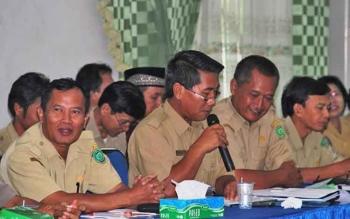 ASN di Kabupaten Pulang Pisau saat mengikuti rapat di aula Pemkab Pulang Pisau belum lama ini.