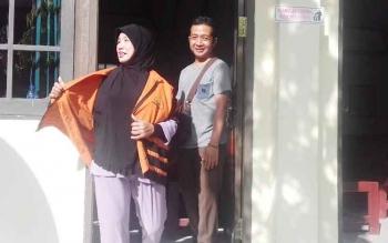 Misbah terdakwa zenith, usai jalani sidang di Pengadilan Negeri Sampit.