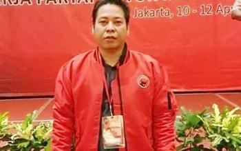 nampak ketua DPRD Kabupaten Bartim Broelalano di sela kegiatan Partai PDIP di Palangkaraya beberapa waktu lalu