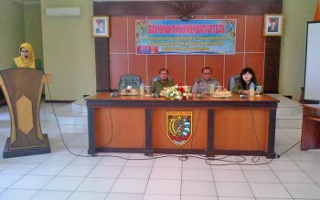 Kegiatan pembentukan forum anak daerah yang digagas DPPKBP3A Barito Selatan