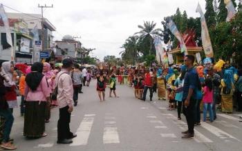 Ribuan orang sudah memadati lokasi yang akan diselenggarakan pesta rakyat di Pangkalan Bun, Rabu (24/5/2017) pagi ini