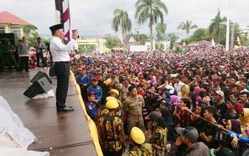 Gubernur Kalimantan Tengah, H. Sugianto Sabran meminta kepada masyarakat Kalteng khususnya Kotawaringin Barat untuk senantiasa menjaga persatuan dan kesatuan serta kerukunan.