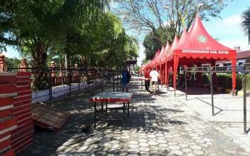 Lokasi Pasar Ramadan di Jalan S. Parman Kawasan Taman Kota Sampit