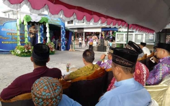 Tamu undangan saat menghadiri kegiatan Pasar Ramadan Sukamara