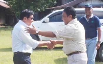 Haji Abdul Rasyid AS saat disambut Bupati Pulang Pisau Edy Pratowo