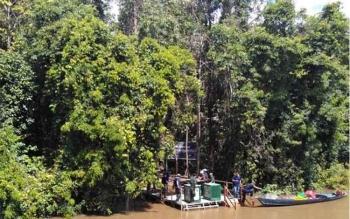 Pulau Salat di Kecamatan Jabiren Raya, Kabupaten Pulang Pisau yang menjadi kawasan pra pelepasliaran orangutan