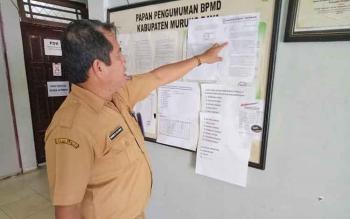 Kabid Pemerintahan Desa dan Kelurahan DPMD Kabupaten Mura, Hendri Silvanus.