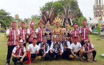 Tim Barito Utara saat mengikuti FBIM di Sampit, Kotawaringin Timur