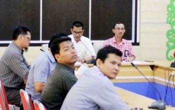 Kepala BPS Kalteng saat paparan hasil sensus 2016