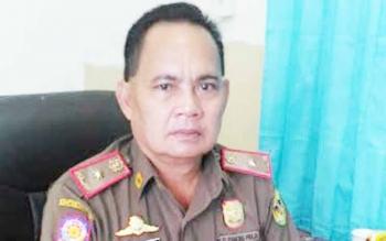 Kepala Satuan Polisi Pamong Praja Gunung Mas Edwin Yustian
