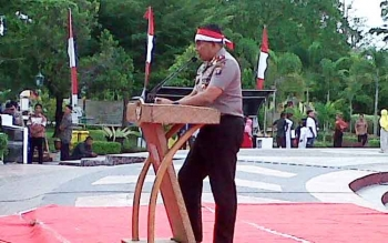 Kapolda Kalteng Brigjend Pol Anang Revandoko memberikan sambutan.