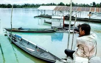 Sungai Kahayan menjadi salah satu objek wisata yang bisa dikunjungi di Kota Palangka Raya.