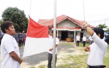 Upacara Hari Lahir Pancasila yang digelar KPU Pulang Pisau (1/6/2017).