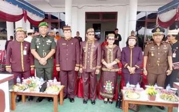 Pemkab Gunung Mas menggelar upacara peringatan Hari Jadi Kalteng, beberapa waktu lalu.