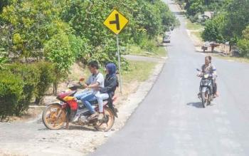 Suasana Desa Balai Riam yang meruapakan salah satu peserta Pilkades serentak Kabupaten Sukamara.