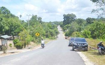 Suasana Desa Balai Riam salah satu desa yang mengikuti Pilkades serentak Kabupaten Sukamara tahun 2017.