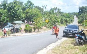 Suasana Desa Balai Riam, salah satu desa yang akan mengikuti Pilkades serentak Kabupaten Sukamara tahun 2017.