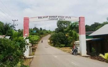Akses jalan dari Kota Puruk Cahu menuju Desa Tahujan Ontu, Kecamatan Tanah Siang Selatan.
