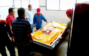 Jasad korban saat di ruang jenazah RSUD dr Doris Sylvanus Palangka Raya