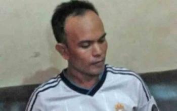 Noval, PNS pada Dinas Penanaman Modal dan Pelayanan Terpadu Satu Pintu Kabupaten Barito Utara yang menjadi tersangka pengedar sabu.