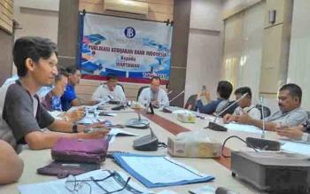 Wuryanto, kepala Perwakilan BI Kalteng memberi keterangan pers, Jumat (9/6/2017) sore.