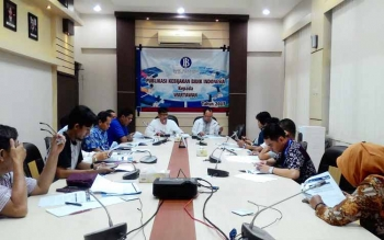 Kepala Perwakilan BI Kalteng Wuryanto saat memberikan keterangan pers, Jumat (9/6/2017)