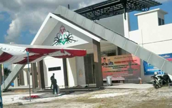Gedung Teater Terbuka di Temanggung Tilung yang akan diresmikan penggunaannya, sore ini