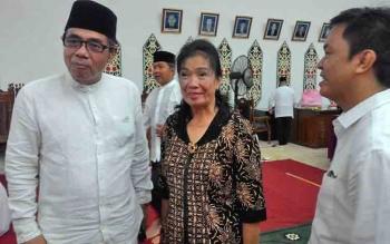 Alfian Batnakanti (kiri) Anggota Komisi B DPRD Kota Palangka Raya.