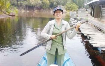 Kepala Bidang Perikanan Budidaya, Dinas Perikanan Kota Palangka Raya Lensi Asi