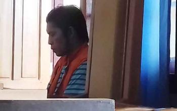 Resedivis kasus pencurian Supry Yono alias Supry saat jalani sidang